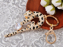 Load image into Gallery viewer, Swarovski Crystal Ball Play Circus Wild Leopard Tiger Cat Keychain