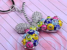 Load image into Gallery viewer, Colorful Dangle Beaded Enamel Butterfly Keychain