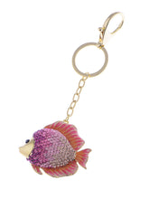 Load image into Gallery viewer, Swarovski Crystal Fire Opal Angel Piranha Fish Keychain