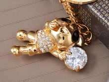 Load image into Gallery viewer, Happy Singing Panda Teddy Bear Key Ring Purse Charm Keychain