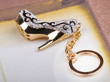 Load image into Gallery viewer, Gold Flourish Lady Stilleto Heel Shoe Keychain