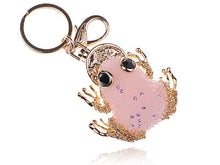 Load image into Gallery viewer, Pink Lucky Mini Fat Tree Frog Toad Charm Keychain