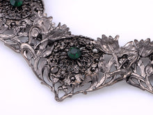 Load image into Gallery viewer, Flower Garden Emerald Collar Bib Necklace