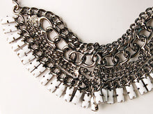 Load image into Gallery viewer, Ethnic Tribal Gun Chain Link Fan Jewelry Necklace Bib