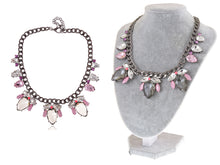 Load image into Gallery viewer, Mouse Gray Pink Chain Necklace