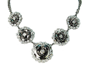Lovely Trio Floral Flower Necklace