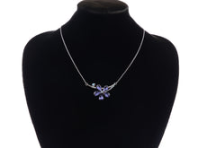 Load image into Gallery viewer, Swarovski Crystal Amethyst Colored Floral Flower Pendant Necklace