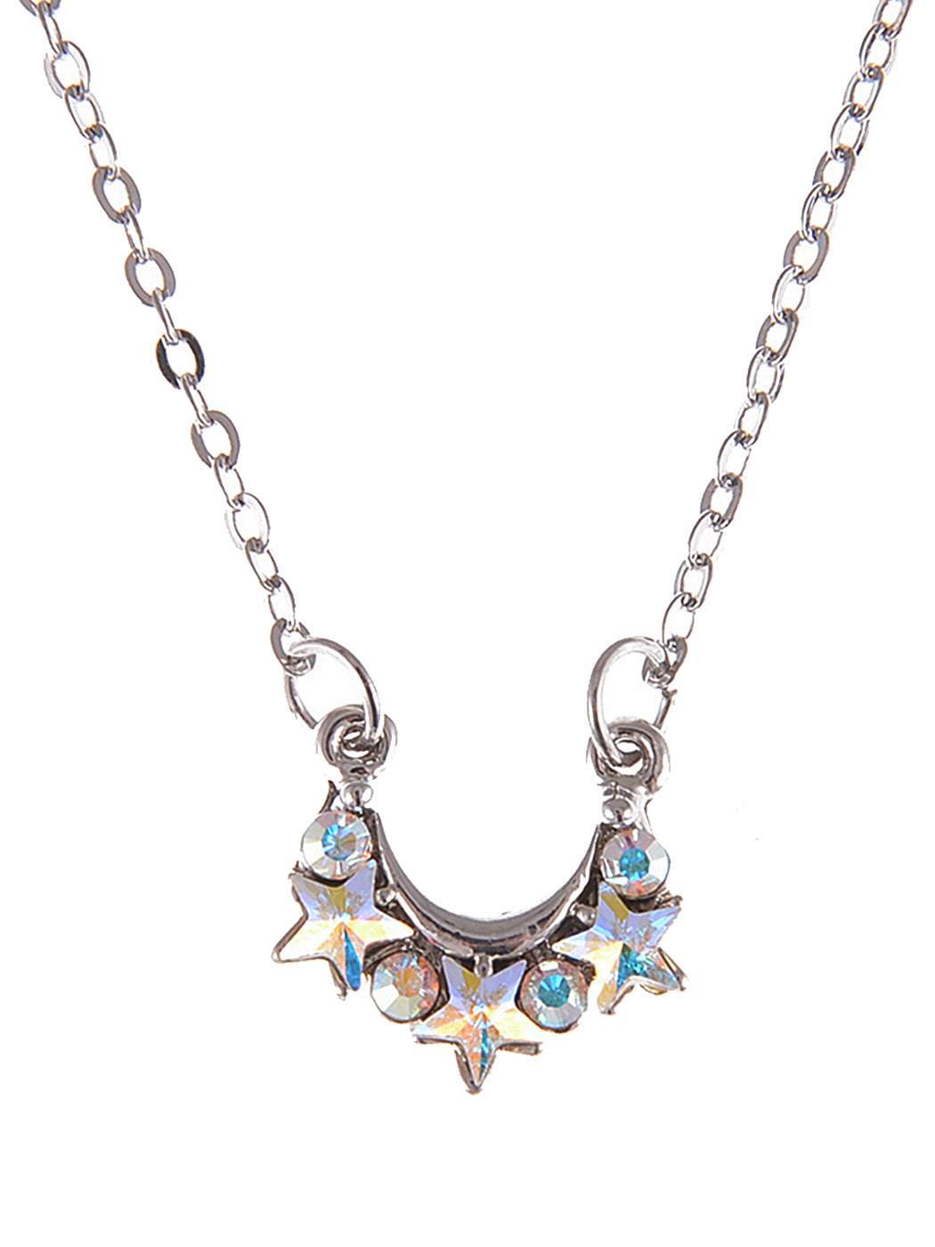 Swarovski Crystal Shooting Star Hot Galaxy Crest Aurora Boreale Pendant Necklace