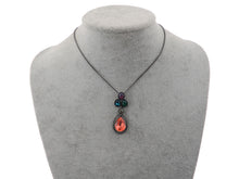 Load image into Gallery viewer, Swarovski Crystal Teardrop Ruby Red Siam Pear Dangle Pendant Necklace