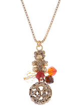 Load image into Gallery viewer, Swarovski Crystal Topaz Bear Intricate Circus Ball Pendant Necklace
