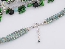 Load image into Gallery viewer, Swarovski Crystal Green Beads Cluster Pendent Necklace
