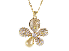 Load image into Gallery viewer, Swarovski Crystal Topaz Fat Flower Petal Pendent Necklace