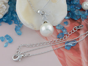 Swarovski Crystal Rabbit Pearl Bead Pendant Necklace