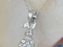 Load image into Gallery viewer, Swarovski Crystal Rabbit Pearl Bead Pendant Necklace