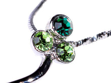 Load image into Gallery viewer, Pacific Opal Green Flower Abstract Pendant Necklace