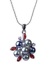 Load image into Gallery viewer, Odd Shape Black Pearl Cluster Snowflake Pendant Necklace