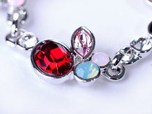 Load image into Gallery viewer, Petite Ruby Red Lite Rose Pink Apple Fruit Necklace