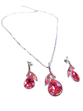 Load image into Gallery viewer, Swarovski Crystals Pendant Necklace Earrings Set