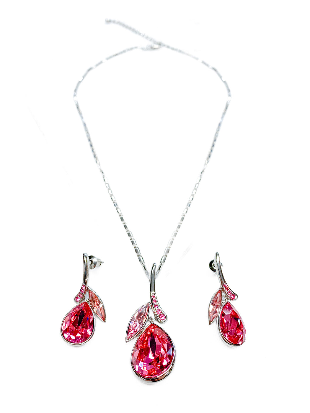 Swarovski Crystals Pendant Necklace Earrings Set
