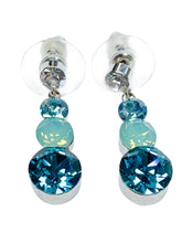 Load image into Gallery viewer, Swarovski crystals Dangle Earring Necklace Jewelry Set