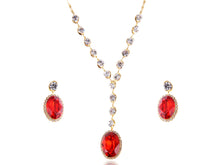 Load image into Gallery viewer, Swarovski Crystal Rhinestone Earring Necklace Jewelry Set