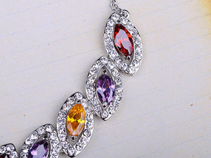 Swarovski Crystal Leaves Earring Necklace Set