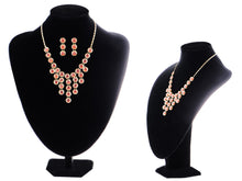 Load image into Gallery viewer, Swarovski Crystal Ruby Red 1960S Cascade Necklace Earring Set