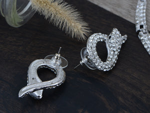 Swarovski Crystal Slithering Snake Earring Necklace Set