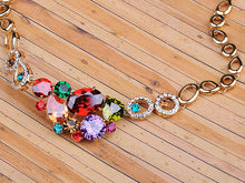 Load image into Gallery viewer, Multicolored Colorful Bib Necklace Stud Earrings Set