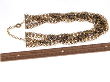 Load image into Gallery viewer, Chain Link Crystal Rhinestone Cascade Multi Strand Necklace