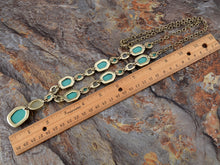 Load image into Gallery viewer, Antique Design Turquoise Opal Color Bead Strand Amulet Long Dress Trend Necklace