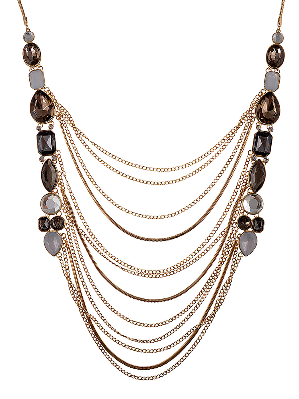 Cascade Layer Necklace Smoke Trend Necklace
