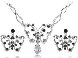 Montana Element Spotted Butterfly Earring Necklace Set