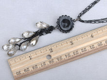 Load image into Gallery viewer, Montana Element Black Dangle Chain Teardrop Necklace