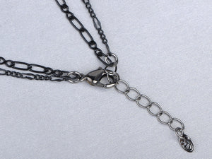 Montana Element Black Dangle Chain Teardrop Necklace