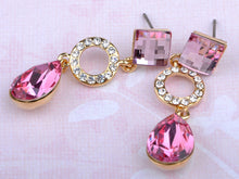 Load image into Gallery viewer, Swarovski Crystal Rose Element Abstract Jewel Earring Necklace Set