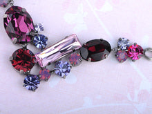 Load image into Gallery viewer, Ruby Violet Element Valentine Jewel Earring Necklace Set