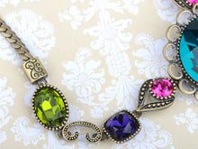 Load image into Gallery viewer, Swarovski Crystal Element Flower Medley Earring Necklace Set