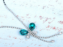 Load image into Gallery viewer, Indicolite Element Dangle Dragonfly Earring Necklace Set