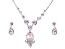 Load image into Gallery viewer, Swarovski Crystal Element Prismatic Bejewel Charm Earring Necklace Set