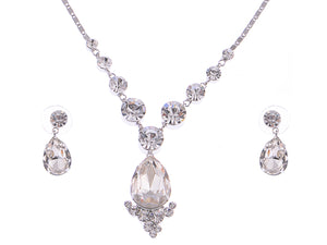 Swarovski Crystal Element Prismatic Bejewel Charm Earring Necklace Set