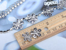Load image into Gallery viewer, Swarovski Crystal Daisy Earring Necklace Set