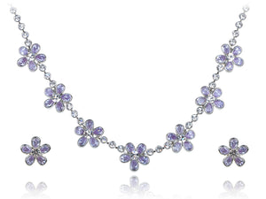 Swarovski Crystal Daisy Earring Necklace Set