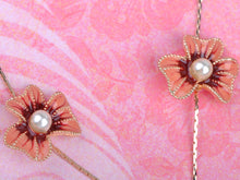 Load image into Gallery viewer, Swarovski Crystal Simply Pink Element Enamel Daisy Earring Necklace Set