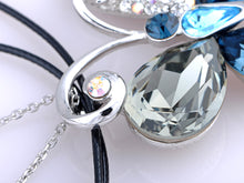 Load image into Gallery viewer, Swarovski Crystal Sapphire Asymmetrical Butterfly Element Necklace
