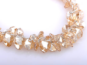 Cluster Honeycomb Swarovski Crystal Element Necklace
