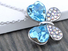 Load image into Gallery viewer, Light Aquamarine Double Love Ab Butterfly Element Necklace