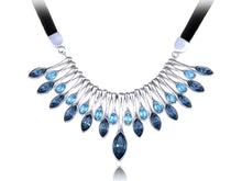 Load image into Gallery viewer, Swarovski Crystal Peacock Tail Feather Necklace Pendant