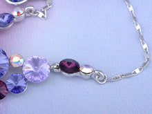 Load image into Gallery viewer, Swarovski Crystal Amethyst Gradient Scatter Grape Cluster Element Necklace