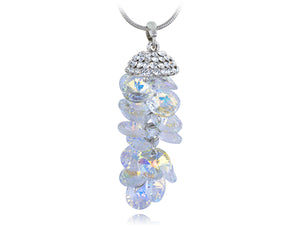 Swarovski Crystal Iridescent Gemss Dangle Pendant Necklace